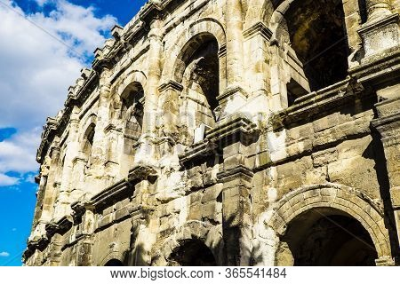 France Nimes August 4 2016 Exterior Of The Arena Of Nimes,