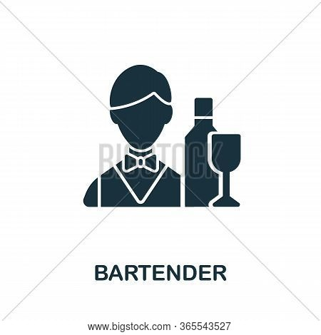 Bartender Icon. Simple Illustration From Night Club Collection. Creative Bartender Icon For Web Desi