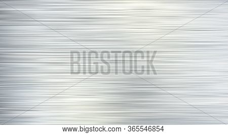 Vector Gray Brushed Metal Texture Or Background