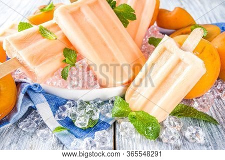 Homemade Apricot Popsicles