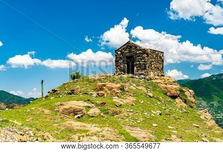 Traditional Ancient Chapel On A Hilltop In Sanahin Village, Armenia