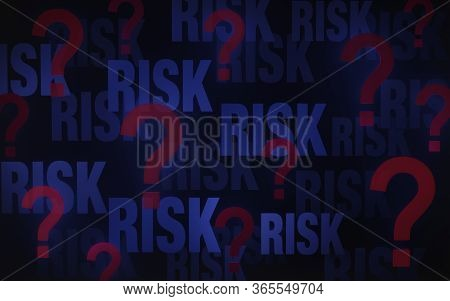 Illustration Of Scattered Red Question Marks Fading Into A Dark Blue Background In Which