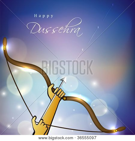 Happy Dussehra background. EPS 10.