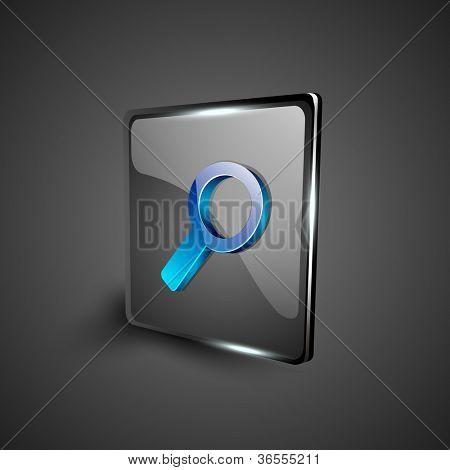 Glossy 3D web 2.0 search symbol icon set. EPS 10.