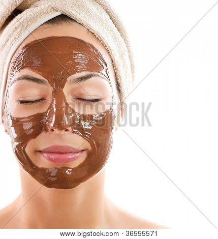 Facial Chocolate Mask. Spa