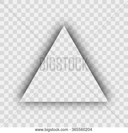 Dark Transparent Realistic Shadow. Triangle Shadow Isolated On Transparent Background. Vector Illust