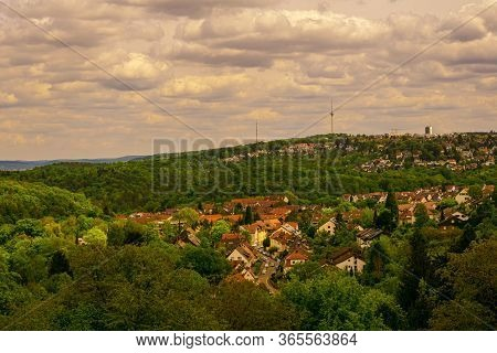 This Is The View From Oesterfeld To A Part Of Stuttgart In The Direction To The Tv Tower.