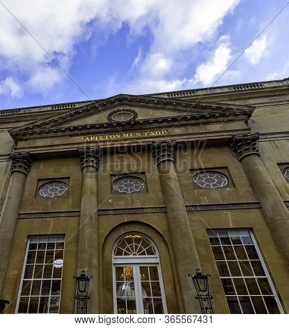 Bath, Somerset, Uk - December 1: Roman Baths And Grand Pump Room Known As Aquae Sulis On 1 December