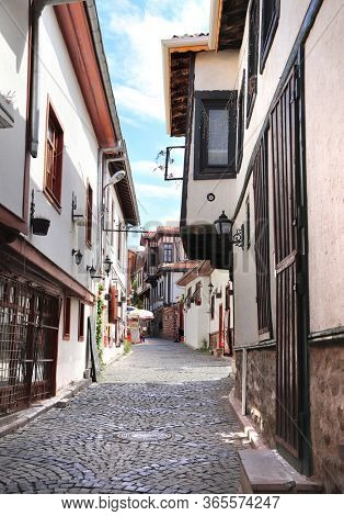 Medieval houses in old town Kaleici in Ankara, Turkey