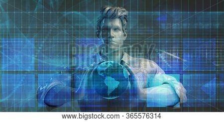 Surveillance Security Technology as a Global Art 3D Render