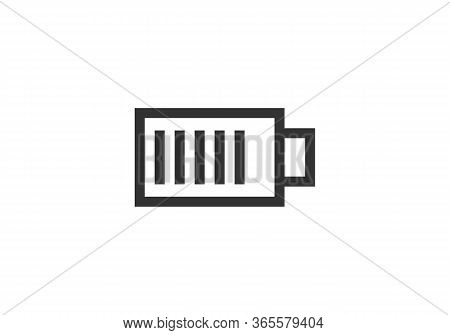 Battery Icon Isolated On White Background. Battery Icon In Trendy Design Style. Battery Vector Icon
