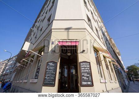 Prague, Czechia - October 31, 2019: Czech Convenience Store In The City Center Of Prague. Also Calle