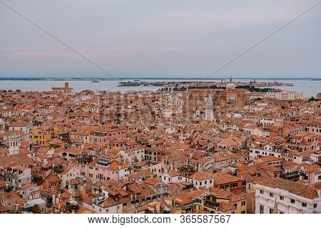 Panoramic Views Of The City And The Cathedral Of Santi Giovanni E Paolo And The Catholic Church Pari
