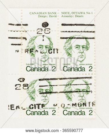 Seattle Washington - May 10, 2020:  1973 Caricature Definitive Of Wilfrid Laurier, 7th Prime Ministe