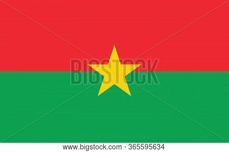 Burkina Faso Flag Vector Graphic. Rectangle Burkinabe Flag Illustration. Burkina Faso Country Flag I