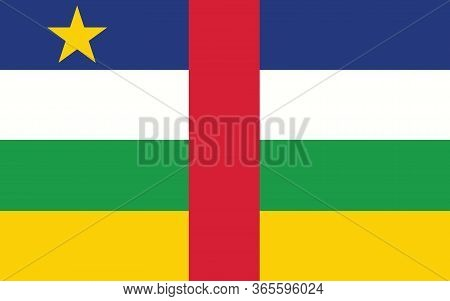 Central African Republic Flag Vector Graphic. Rectangle Central African Flag Illustration. Central A