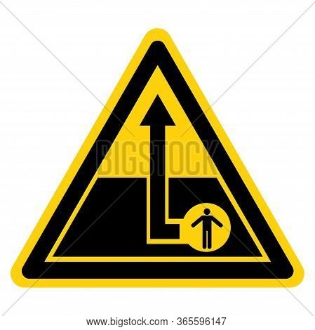 Warning Confined Space Symbol Sign, Vector Illustration, Isolate On White Background Label. Eps10