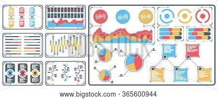 Statistical Data Presented In The Form Of Digital Graphs And Charts On The Tablet. Financial Analysi