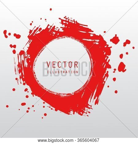 Vector Splats Splashes And Blobs Of Red Ink Paint In Different Shapes Drips