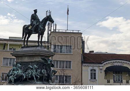 Sofia, Bulgaria - November 28, 2019:  Monument To The Tsar Or King Liberator, To The Russian King Al