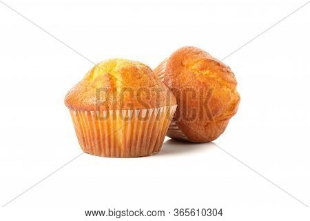 Delicious Tasty Muffins Isolated On White Background