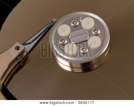 Open Hard Drive Disk Closeup