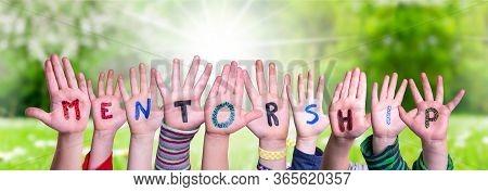 Children Hands Building Word Mentorship, Grass Meadow