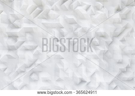 3d White Concrete, Plaster Pattern, Asymmetric And Geometric Abstract Structures On Textured Backgro