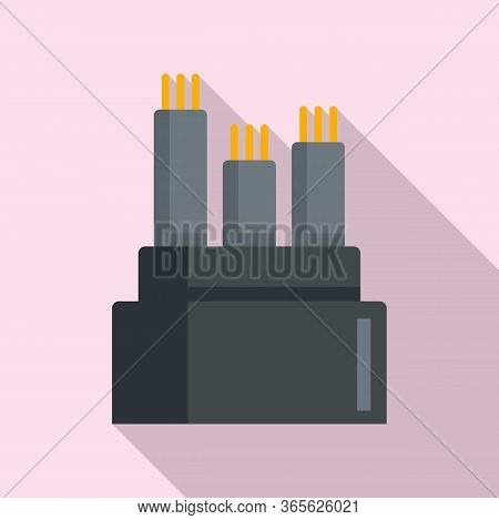 Optical Fiber Icon. Flat Illustration Of Optical Fiber Vector Icon For Web Design