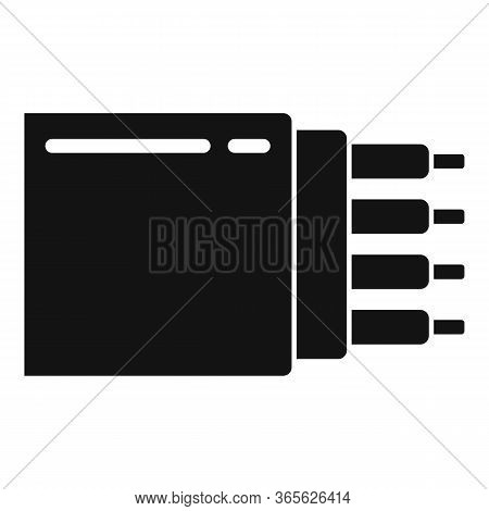 Optic Cable Icon. Simple Illustration Of Optic Cable Vector Icon For Web Design Isolated On White Ba