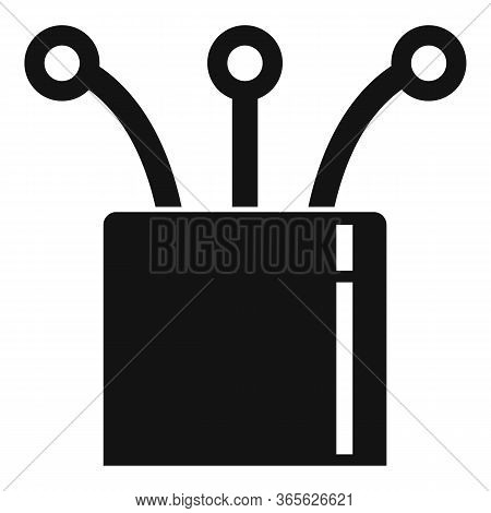 Ethernet Cable Optic Icon. Simple Illustration Of Ethernet Cable Optic Vector Icon For Web Design Is
