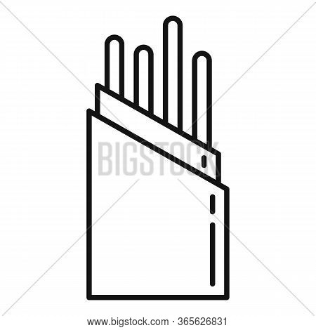 Wire Optical Fiber Icon. Outline Wire Optical Fiber Vector Icon For Web Design Isolated On White Bac