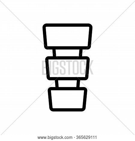 Multi Level Vase Icon Vector. Multi Level Vase Sign. Isolated Contour Symbol Illustration