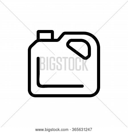 Oil Canister Icon Vector. Oil Canister Sign. Isolated Contour Symbol Illustration