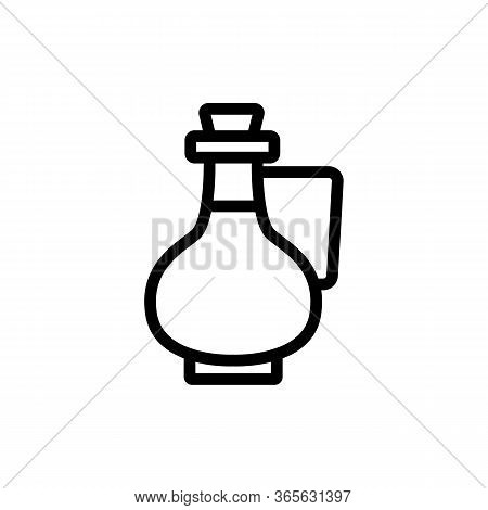 Jug With Handle And Oil Icon Vector. Jug With Handle And Oil Sign. Isolated Contour Symbol Illustrat