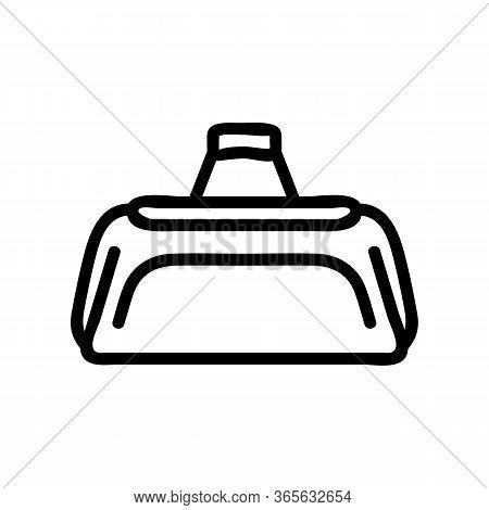 Regular Sports Bag Icon Vector. Regular Sports Bag Sign. Isolated Contour Symbol Illustration