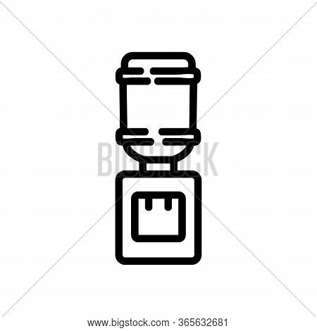 Office Convenient Water Cooler Icon Vector. Office Convenient Water Cooler Sign. Isolated Contour Sy
