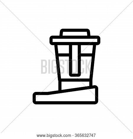 Water Purification Filter Icon Vector. Water Purification Filter Sign. Isolated Contour Symbol Illus