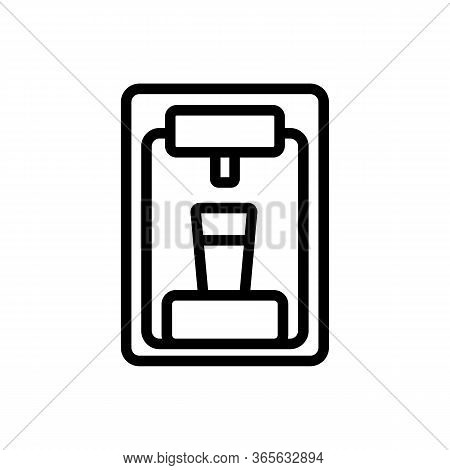 Water Cooler Front View Icon Vector. Water Cooler Front View Sign. Isolated Contour Symbol Illustrat