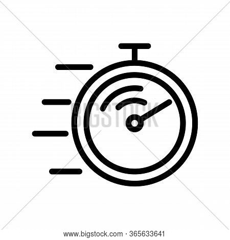 Competition Stopwatch Icon Vector. Competition Stopwatch Sign. Isolated Contour Symbol Illustration
