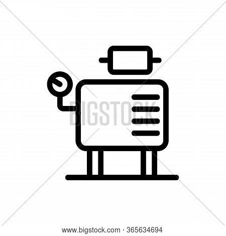 Compressor Monitoring Sensors Icon Vector. Compressor Monitoring Sensors Sign. Isolated Contour Symb