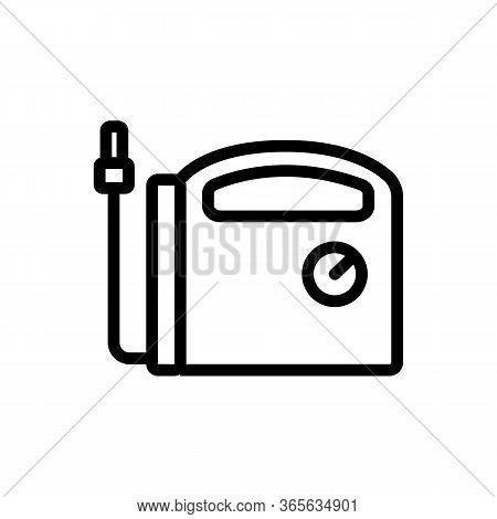 Air Compressor Indicator Icon Vector. Air Compressor Indicator Sign. Isolated Contour Symbol Illustr