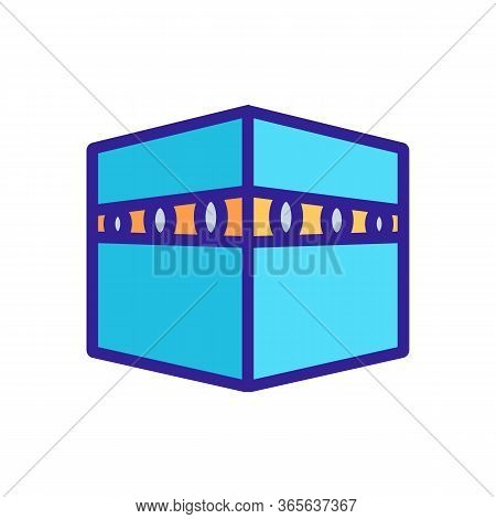 Holy Kaaba Icon Vector. Holy Kaaba Sign. Color Symbol Illustration
