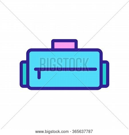 Sports Bag With Zipper Icon Vector. Sports Bag With Zipper Sign. Color Symbol Illustration