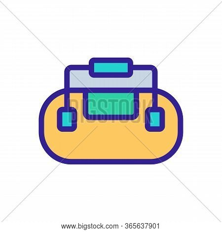 Bag With Securely Attached Handles Icon Vector. Bag With Securely Attached Handles Sign. Color Symbo