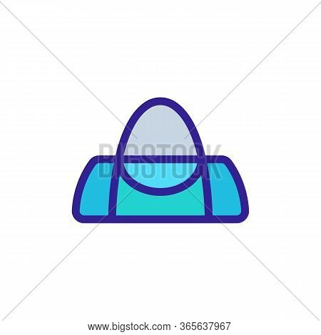 Sports Bag With Handles Icon Vector. Sports Bag With Handles Sign. Color Symbol Illustration