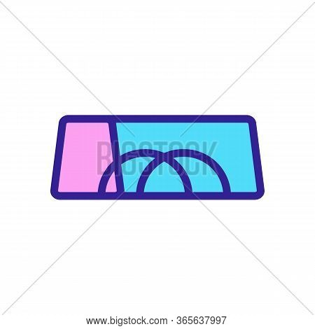 Torn Handles Of Sports Bag Icon Vector. Torn Handles Of Sports Bag Sign. Color Symbol Illustration