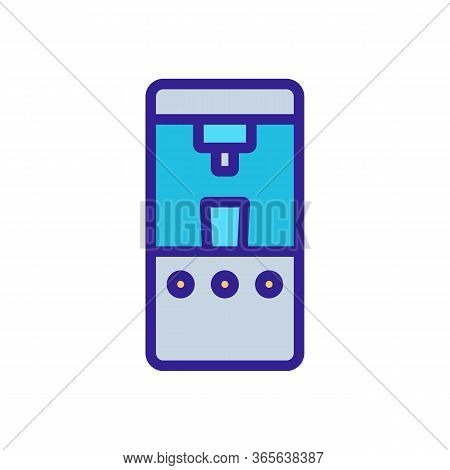 Automatic Water Cooler Icon Vector. Automatic Water Cooler Sign. Color Symbol Illustration
