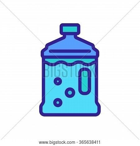 Water Bottle With Convenient Handle Icon Vector. Water Bottle With Convenient Handle Sign. Color Sym