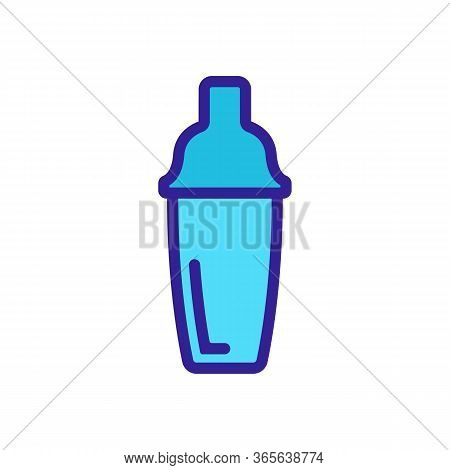 Bartender Shaker Icon Vector. Bartender Shaker Sign. Color Symbol Illustration